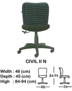 kursi staff & secretary indachi civil II n