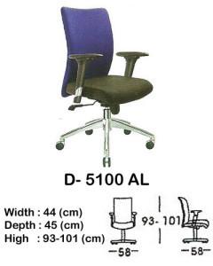 kursi staff & secretary indachi d- 5100 al