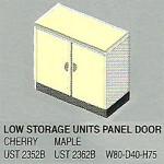 lemari arsip pendek 2 pintu panel bagian bawah uno platinum series