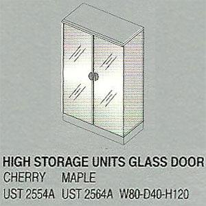 lemari arsip tinggi 2 pintu kaca bagian atas uno platinum series