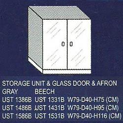 lemari bagian bawah 2 rak, pintu kaca dan afron uno classic series