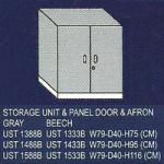 lemari bagian bawah 2 rak, pintu panel dan afron uno classic series