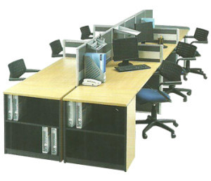 Partisi Kantor Modera 3 Series S 6 Staff
