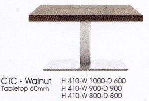 meja Bulat Indachi CTC-Walnut Tabletop 60mm
