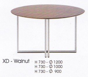 meja Bulat Indachi XD-Walnut